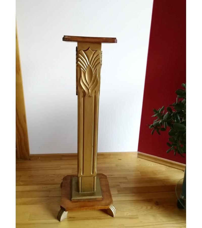 Stovelis, kolona Art Deco stiliaus, medinis, antikvarinis. Kaina 82