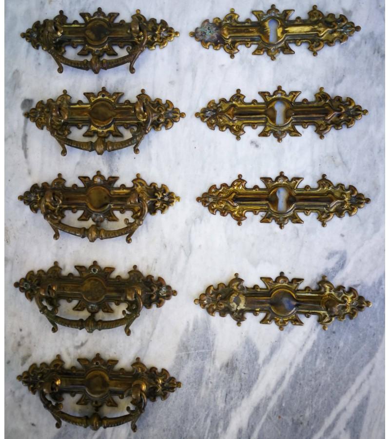 Rankenėlės antikvarinės bronzinės. 5 vnt. po 7,5 ir 3 vnt. po 5,5