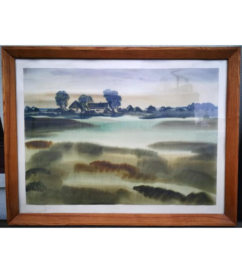 Akvarelė P. Porutis. Peizažas. Kaina 265