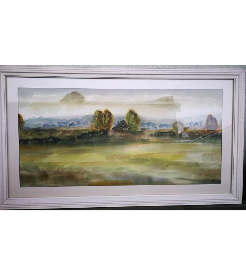 Akvarelė P. Porutis. Peizažas. Kaina 135