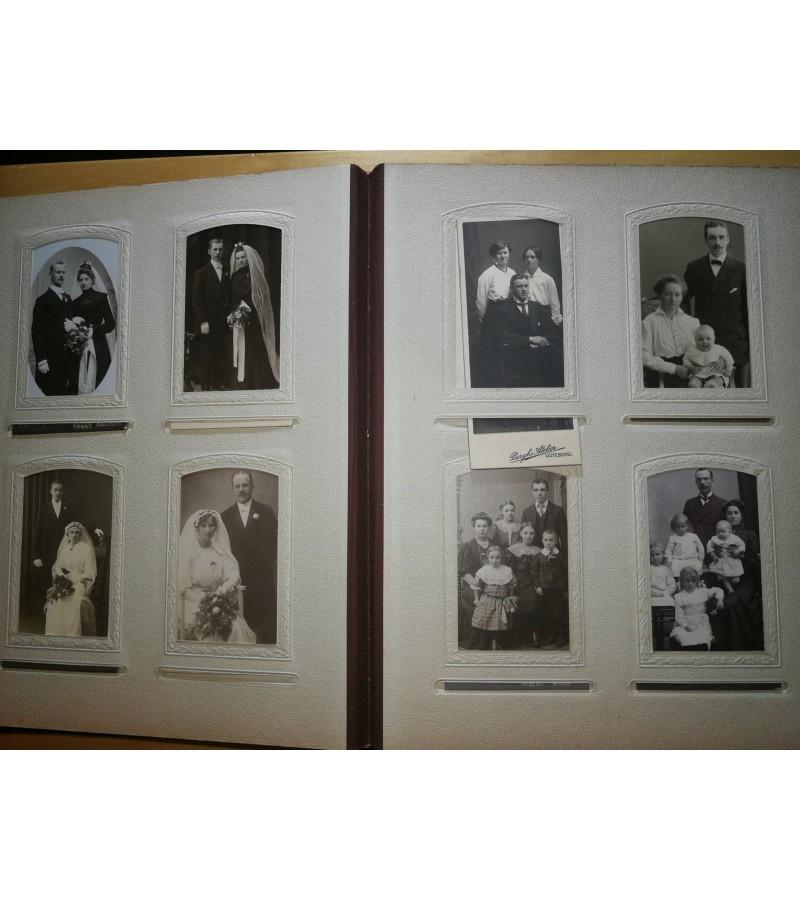 Nuotraukų albumas, KARTONAŽINĖS, antikvarinės, XIX a. pr. Švedija. Kaina 72 už visą albumą.