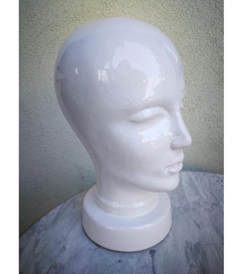Keraminė  glazūruota žmogaus galva, Kaina 52