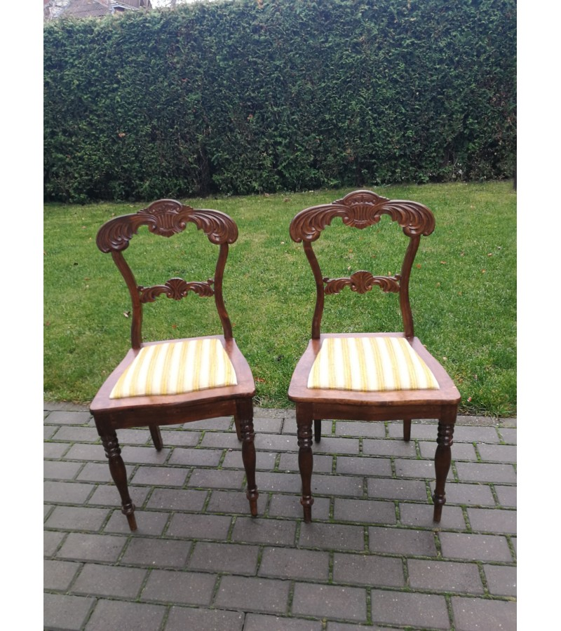 Kėdės. Belle epoque stiliaus 2 vnt. Kaina po 43