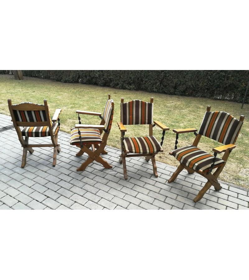 Krėslai, kėdės tvirti ir masyvūs. 4 vnt. Kaina po 28