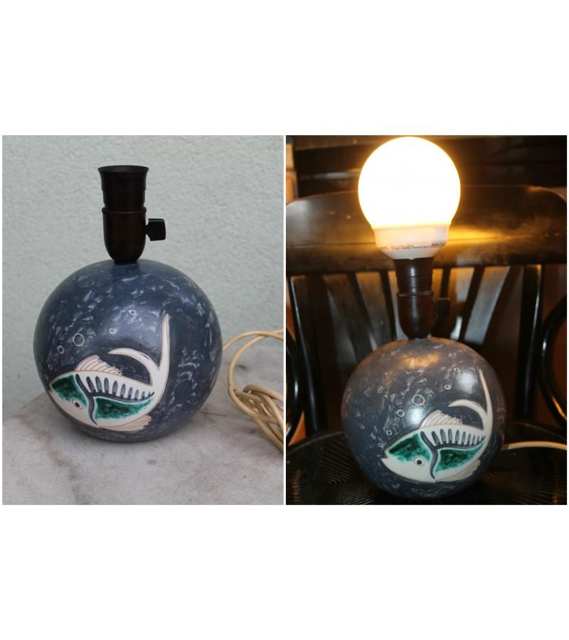 Stalinis keraminis šviestuvas su žuvimi. Kaina 18