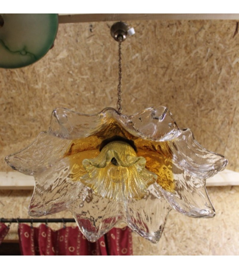 Šviestuvas Murano storo stiklo vintažinis. Kaina 215