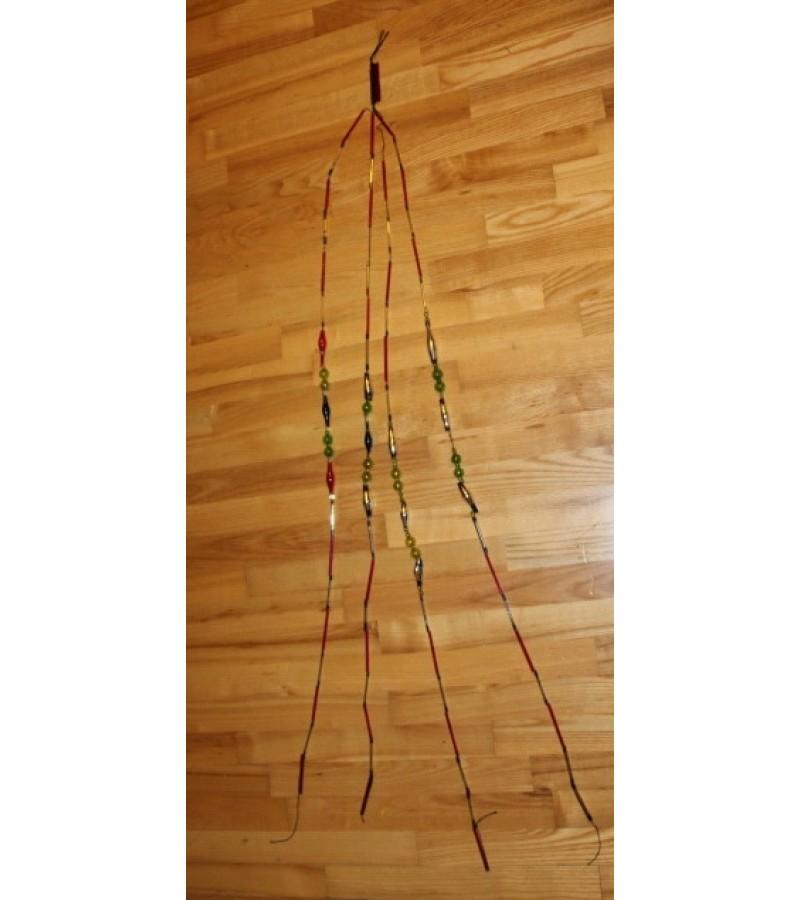 Antikvarine stikline eglutes girlianda. Kaina 52 Eur.
