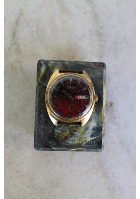 Rankinis mechaninis tarybinis laikrodis Slava. Kaina 11