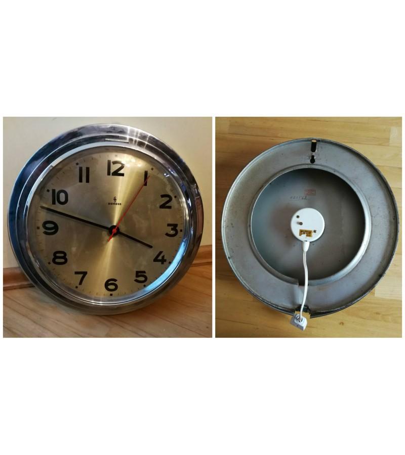 Vintazinis elektrinis (220 V) laikrodis SIEMENS. Kaina 127