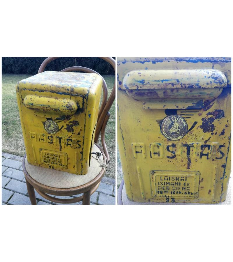 Pašto dėžė tarybinių laikų su LTSR herbu. Kaina 287