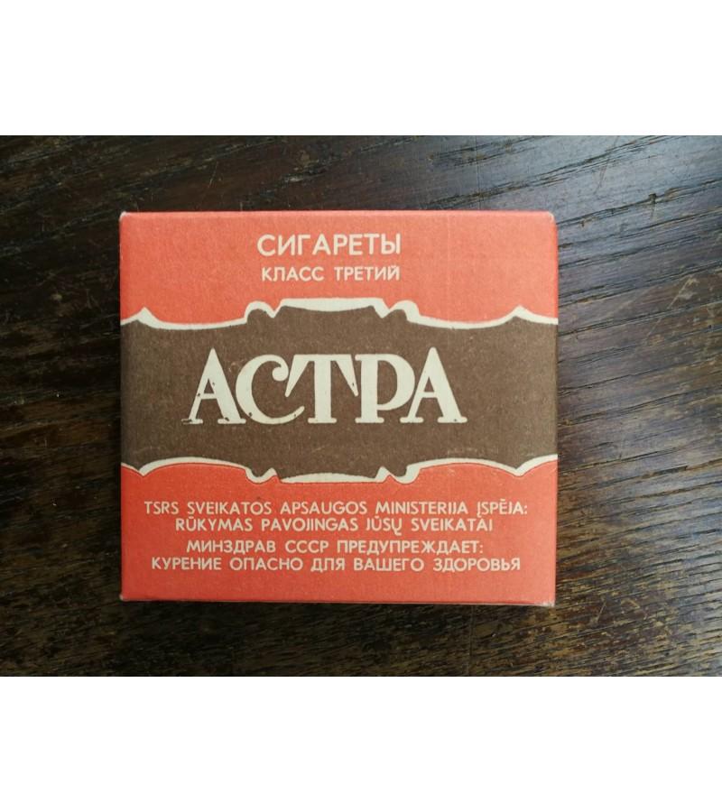 Cigaretes Astra. Nenaudota. Kaina 12