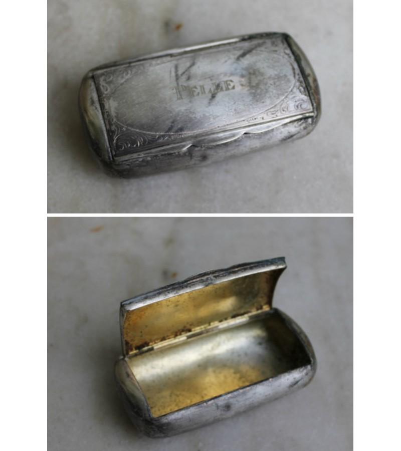 Tabokinė antikvarinė, sidabruota. Kaina 18 Eur.