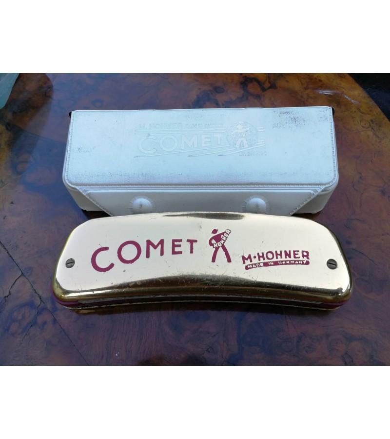 Armonikele Hohner Comet su deklu. Kaina 53