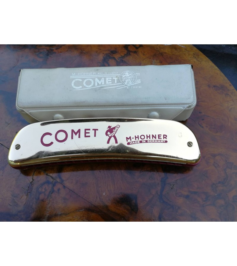 Armonikele Hohner Comet su deklu. Kaina 62