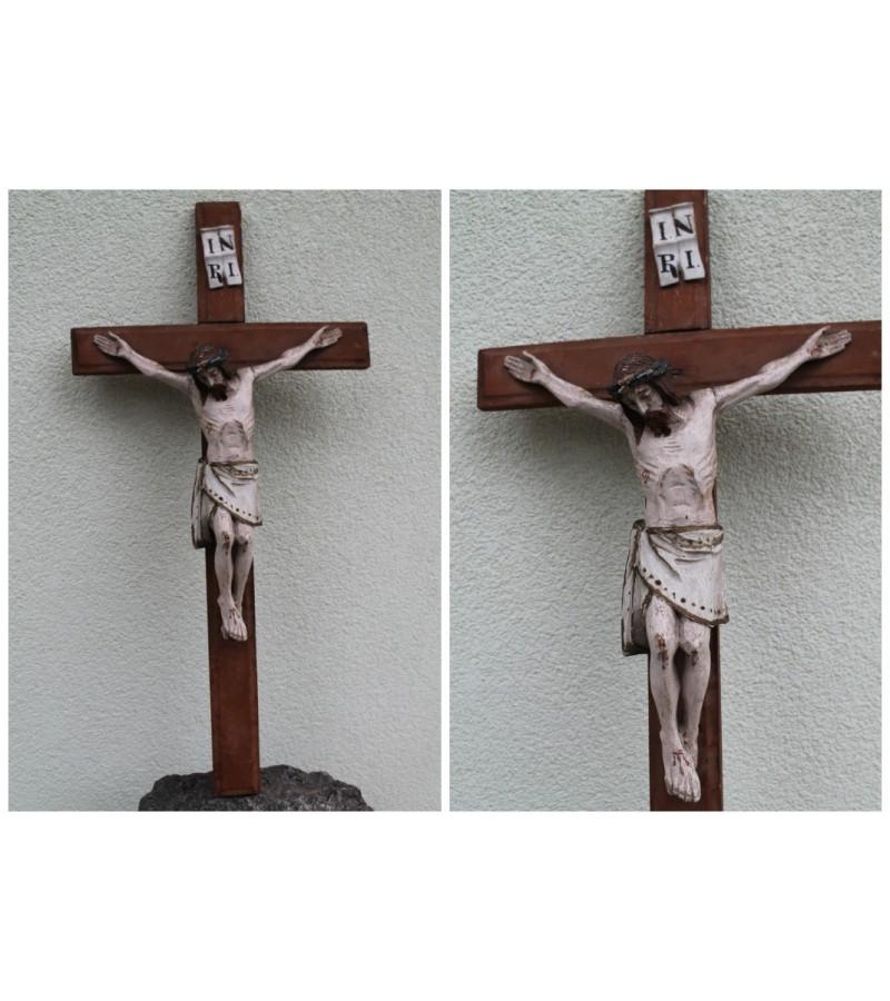 Tarpukario medinis krucifikasas/nukryziuotasis Jezus. Kaina 162