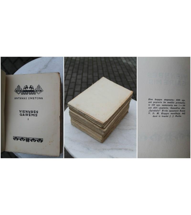 A. Smetona. Rastai 4 tomai: Vienybes gairemis, Sviesos takais, Atgimstant, Lietuviu santykiai su lenkais, Kaunas, 1930-1931 m. Kaina 82 uz visus.