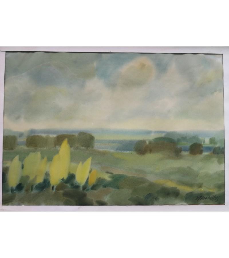 Akvarelė Peizažas. Algirdas Lukštas. Kaina 217