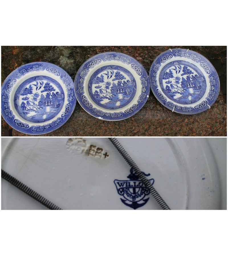 Lėkštės antikvarines WILLOW GUSTAVSBERG. LIKO 2 vnt. Kaina 4,5 ir 6,5 Eur
