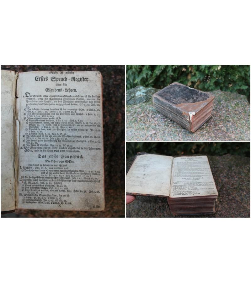 Antikvarine vokiska XIX a. pr. biblija. Kaina 42