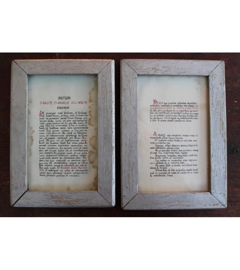 Paveikslėliai antikvariniai - Šv. Evangelija pagal Joną. Kaina 16 už abu