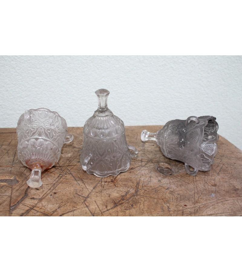 Antikvarines stiklines lampados. 3 vnt. Kaina po 37