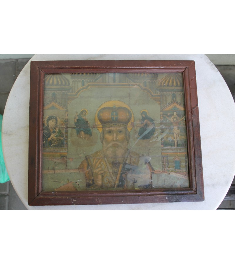 Antikvarinis sventas paveikslas. Kaina 16 Eur.