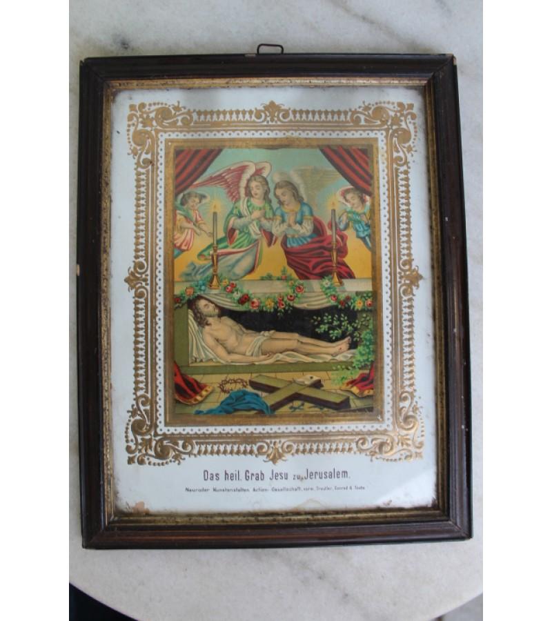 Antikvarinis sventas paveikslas. Kaina 21 Eur.