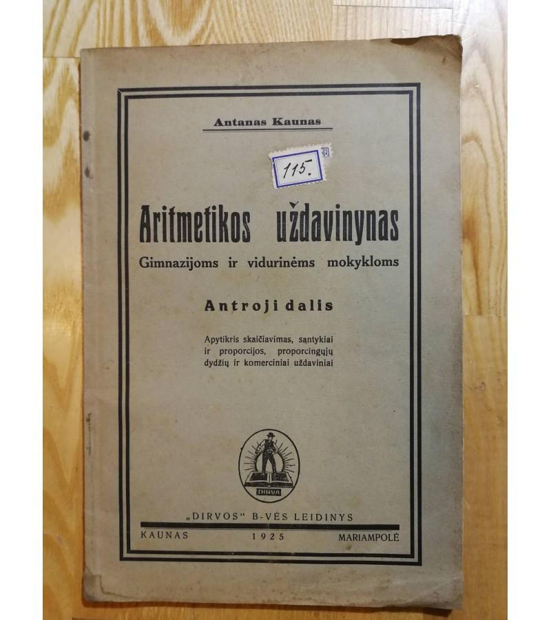 Aritmetikos uzdavinynas, 1925 m. Kaina 8