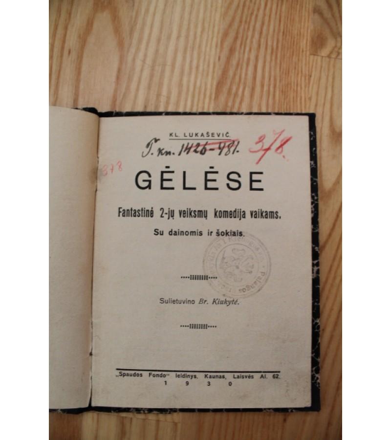 Gelese. 1930 m.Kaina 5.2 Eur.