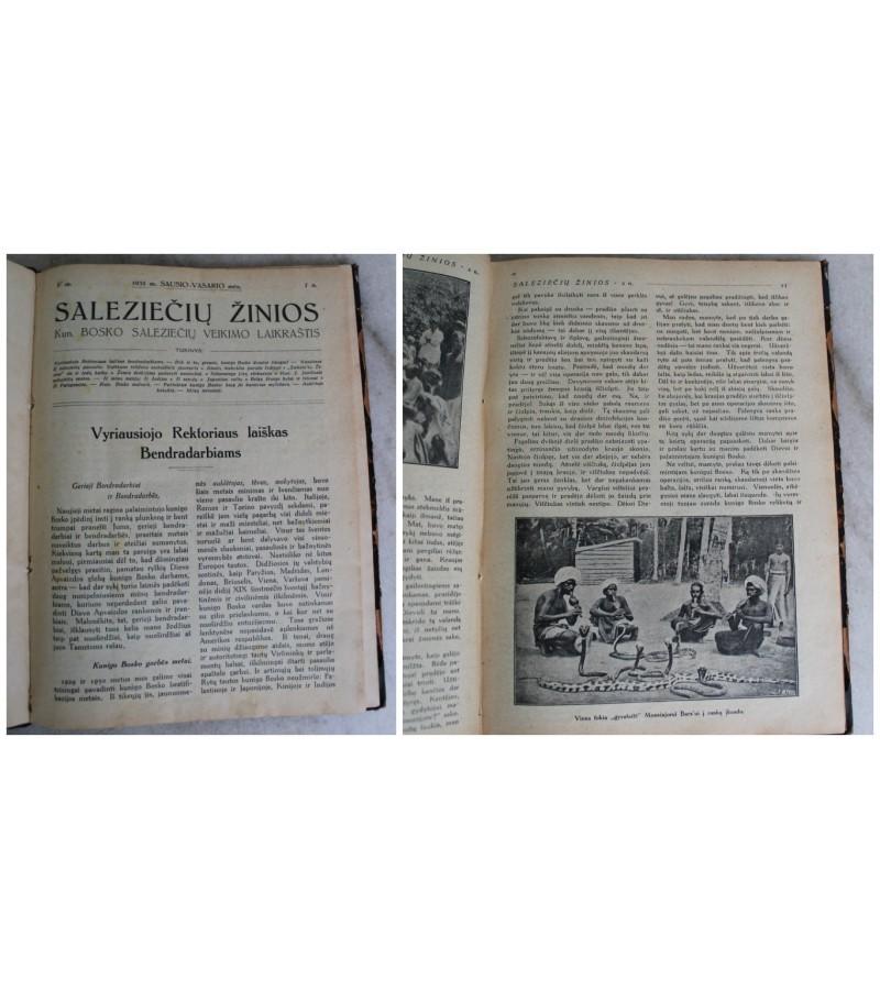 Iristi laikrasciu rinkiniai Salezieciu zinios, 1931 m. Kaina 8