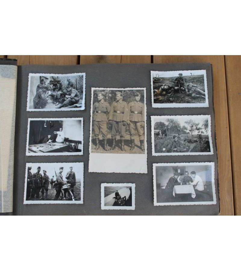 1940 m. vokieciu kareivio nuotrauku albumas. Kaina 87 Eur.