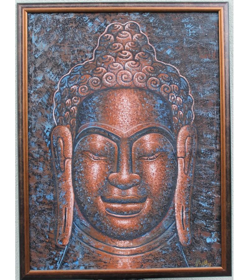 Budos paveikslas tapytas budistu vienuolio, Kambodza. Kaina 182