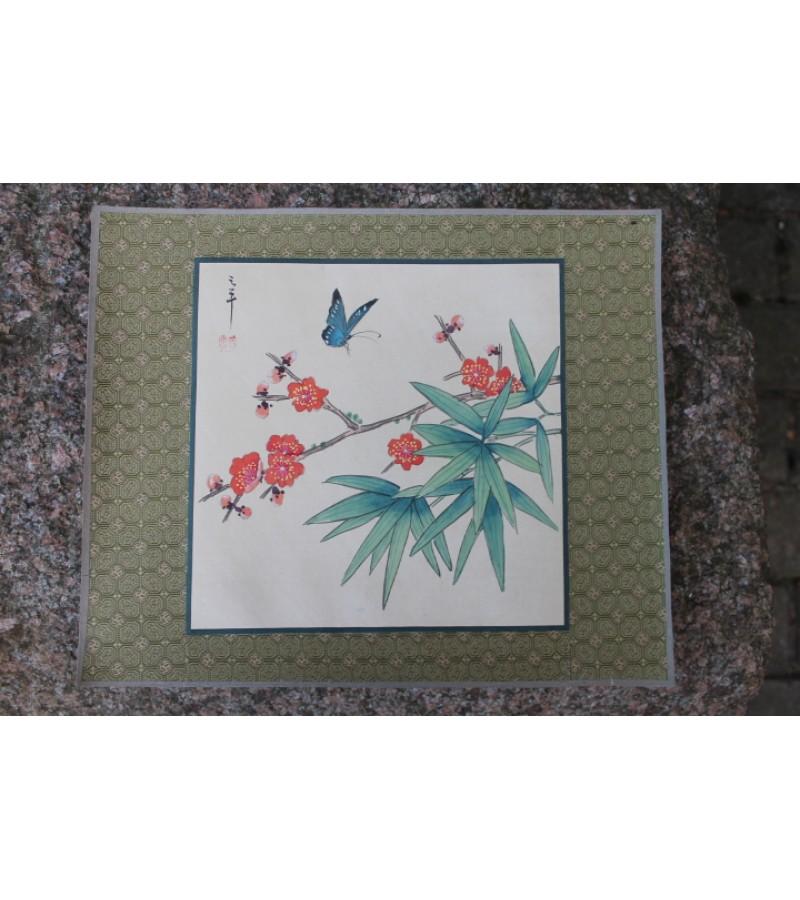 Hand-painting. Made in China. Silkas, popierius, tapyba. 3 vnt. Kaina po 17 Eur.