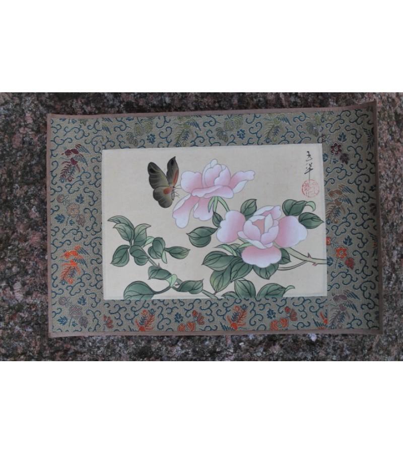 Hand-painting. Made in China. Silkas, popierius, tapyba. 1 vnt. Kaina 13 Eur.