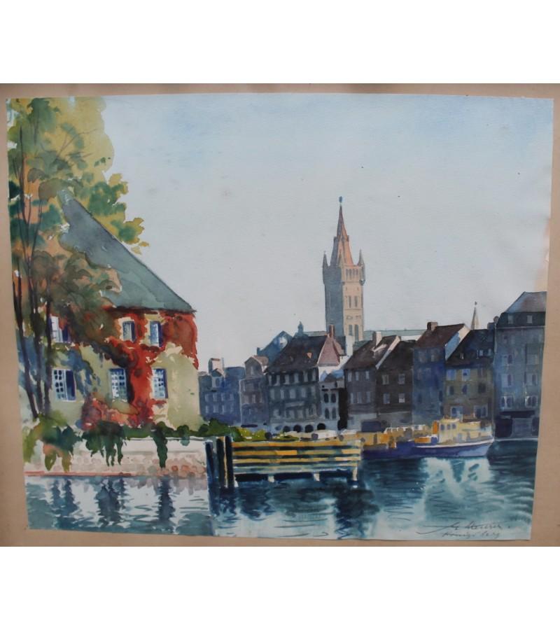 Akvarele Konigsber (Karaliaucius, Kaliningrad). Kaina 83