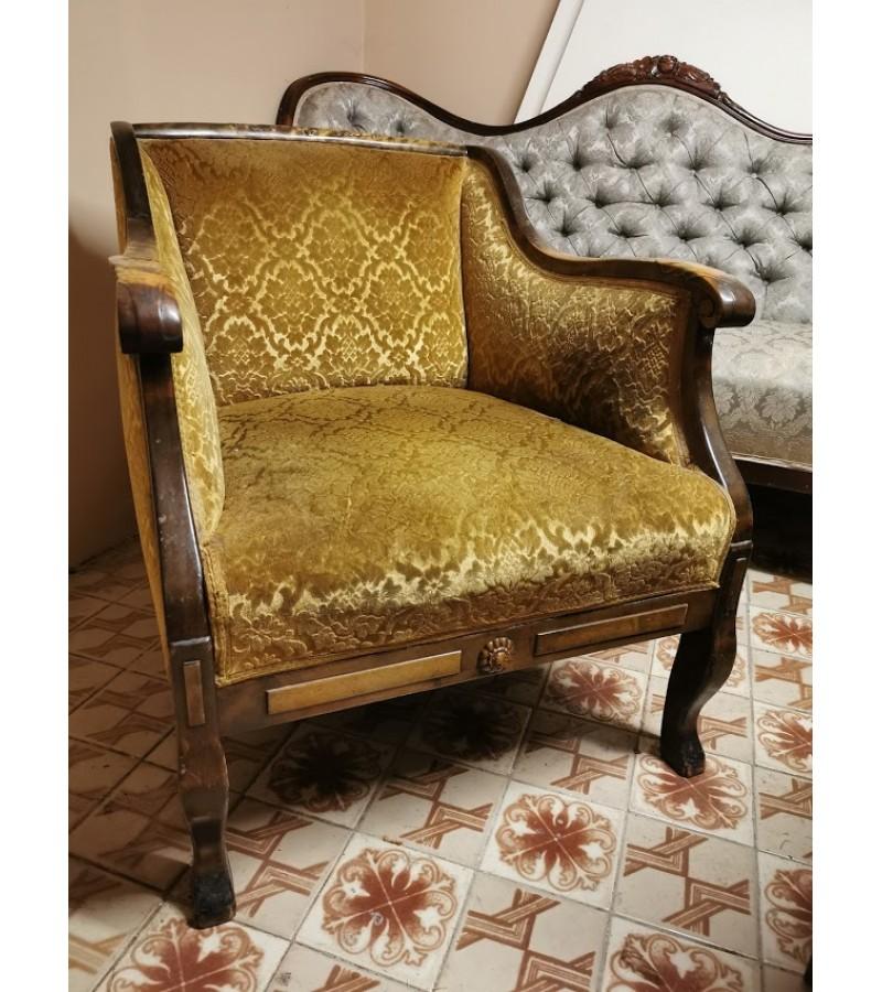 Fotelis antikvarinis, tarpukarinis. Kaina 187 eur.