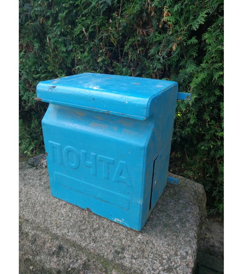 Pašto dėžė tarybinių, sovietinių laikų, skardinė. Kaina 83