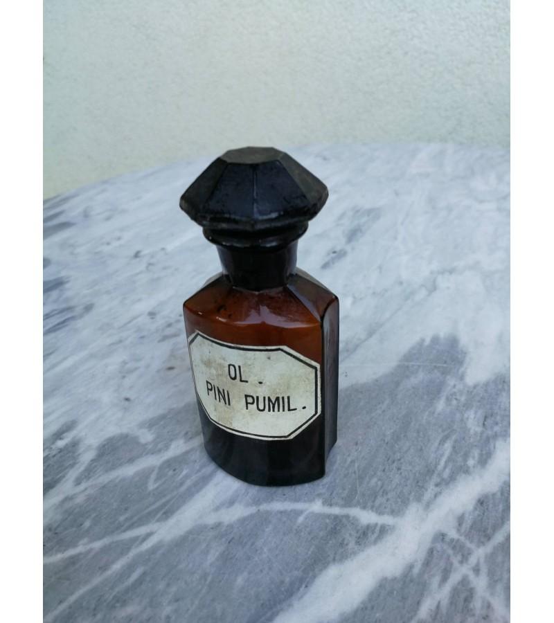 Antikvarinis vaistines butelis. Kaina 21