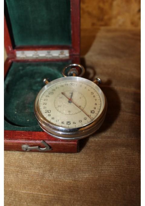 Chronometras, sekundometras, laikmatis tarybinių laikų. Didelis. Veikiantis. Originalioje pakuotėje. Kaina 42