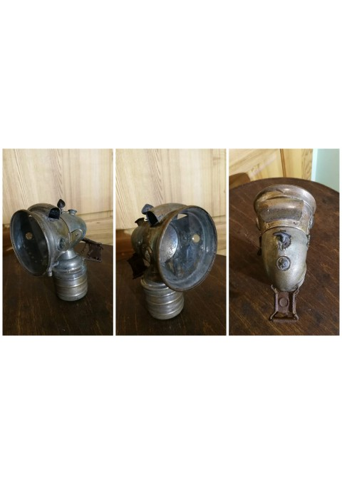 Žibintas antikvarinis karbidinė dviracio, motociklo, šachtininų lempa. Kaina 92