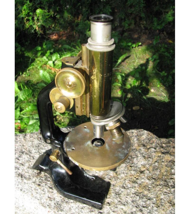 Antikvarinis mikroskopas. Kaina 107 Eur.