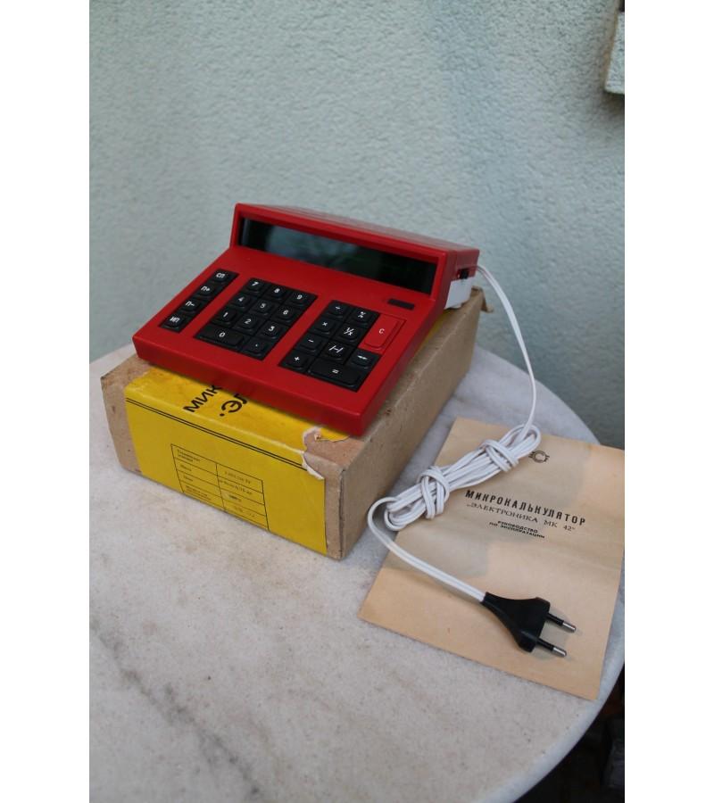 Tarybinis mikrokalkuliatorius kalkuliatorius  Elektronika MK-40. Kaina 26 Eur.