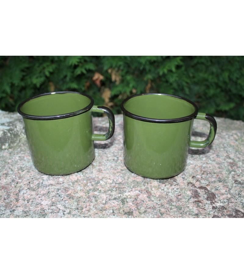 Emaliuotas nenaudotas puodelis LIKO VIENAS. Kaina 8