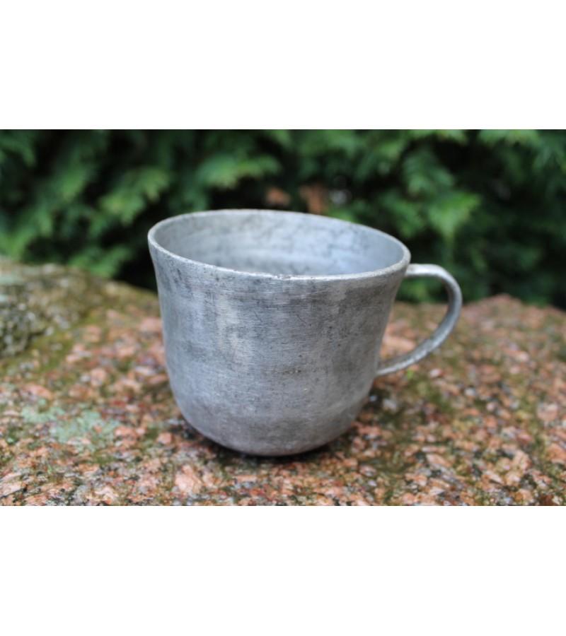 Aliuminiai lietuviski puodeliai. 6 vnt. Kaina po 11 ir 14