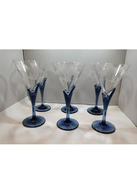 Taurės stilingos stiklinės. 6 vnt. Kaina 67