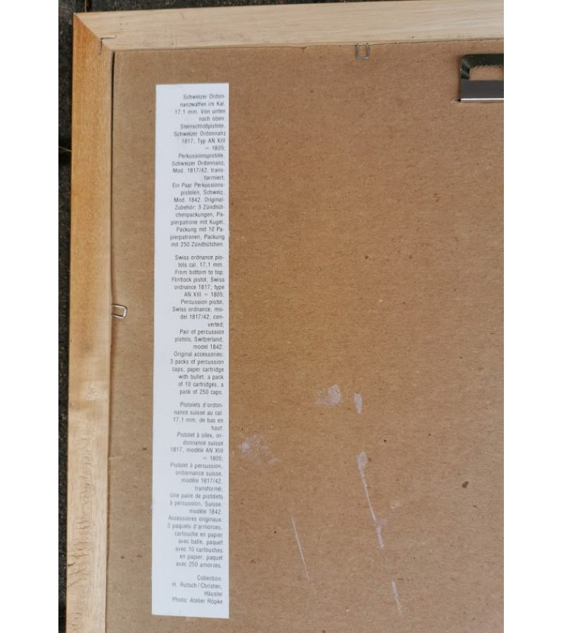 Ginklų antikvarinių įrėmintos nuotraukos. 6 vnt. Kaina po 16