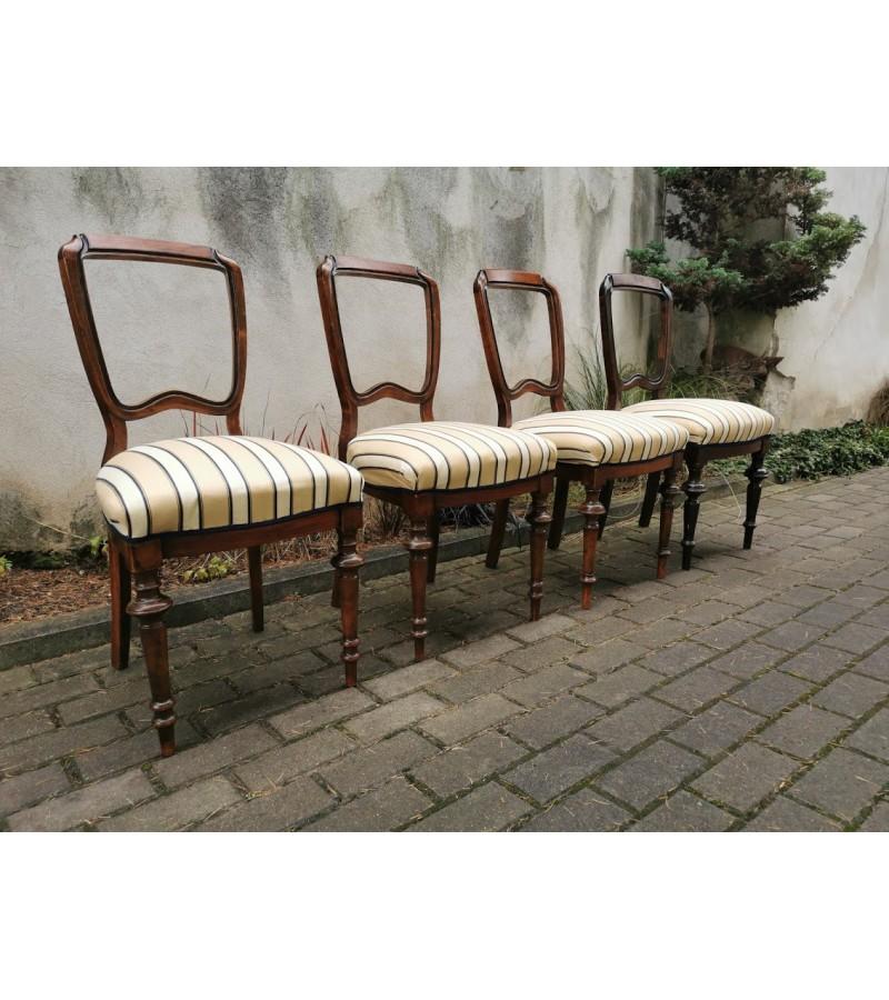 Kėdės antikvarinės, spyruoklinės. 4 vnt. Kaina po 42