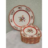 Lėkštės porcelianinės, antikvarinės, didelė ir 11 mažesnių. Kaina 78 už viską.