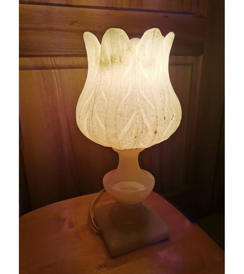 Šviestuvas Tulpė, akmeninis, Art Deco stiliaus. Veikiantis. Kaina 82