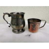 Puodeliai antikvariniai, sidabruoti. Anglija. Kaina po 12